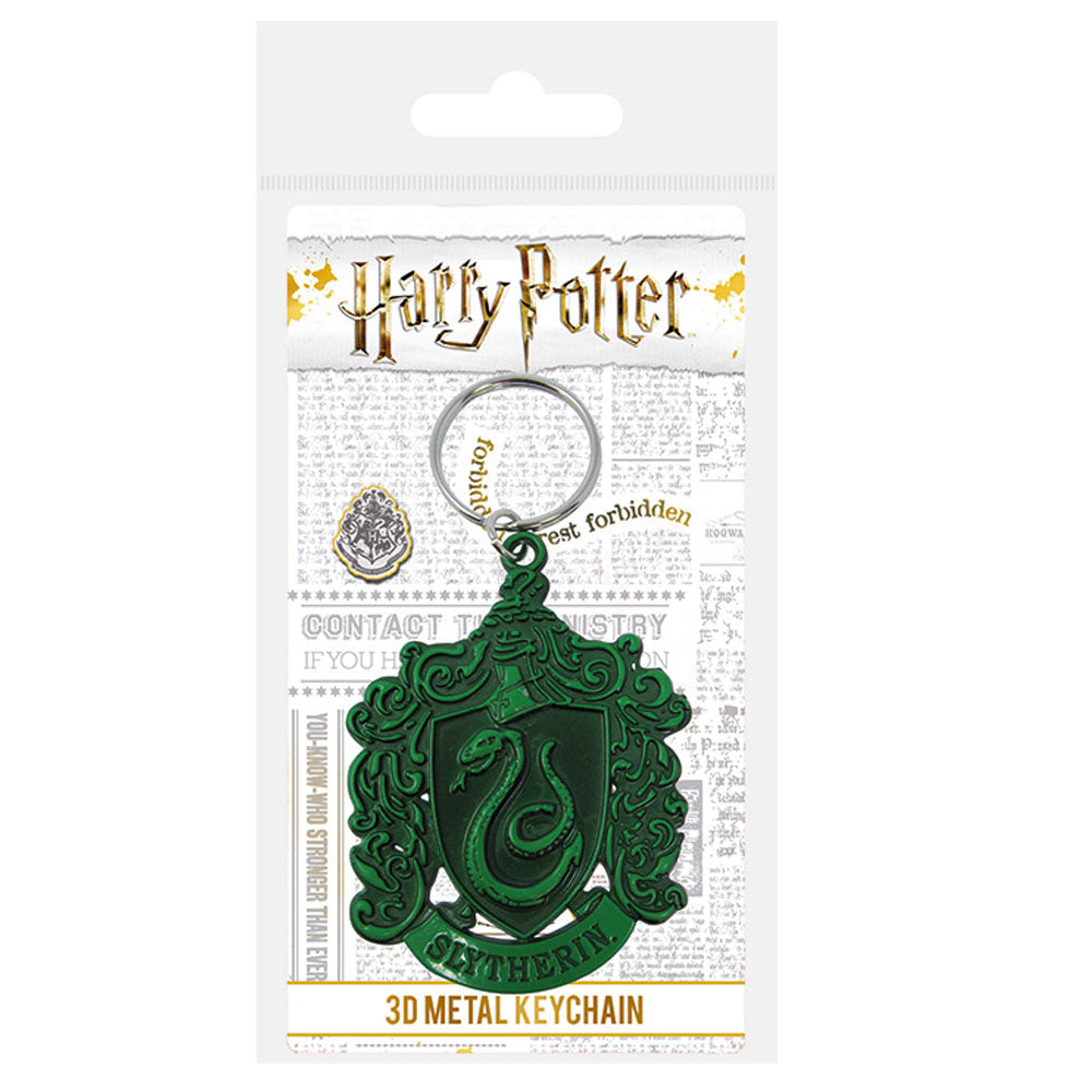 Harry Potter Slytherin Crest Metal Keyring