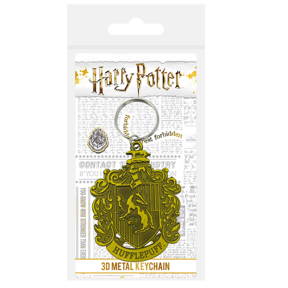 Harry Potter Hufflepuff Crest Metal Keyring