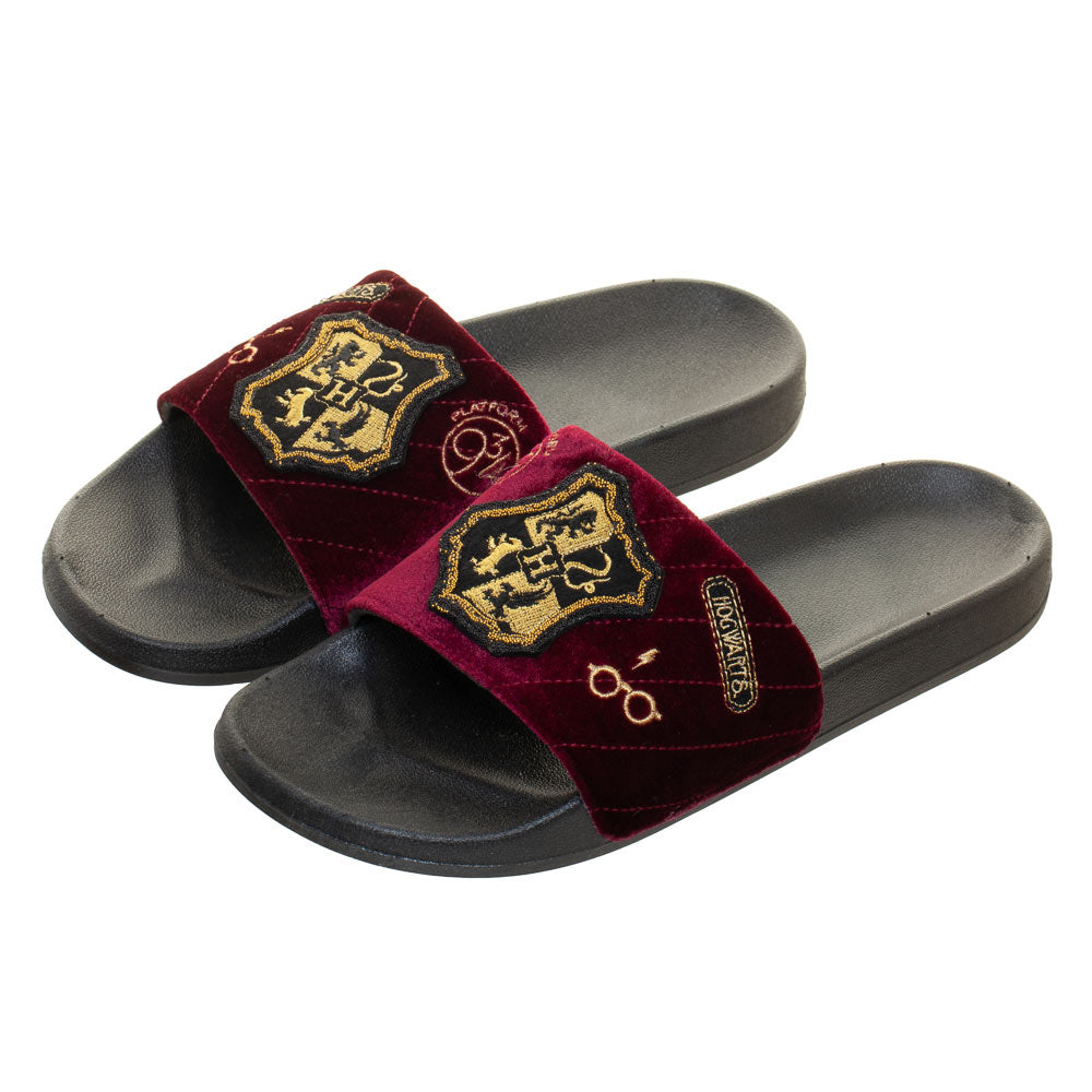 Harry Potter Hogwarts Athletic Premium Velvet Sliders