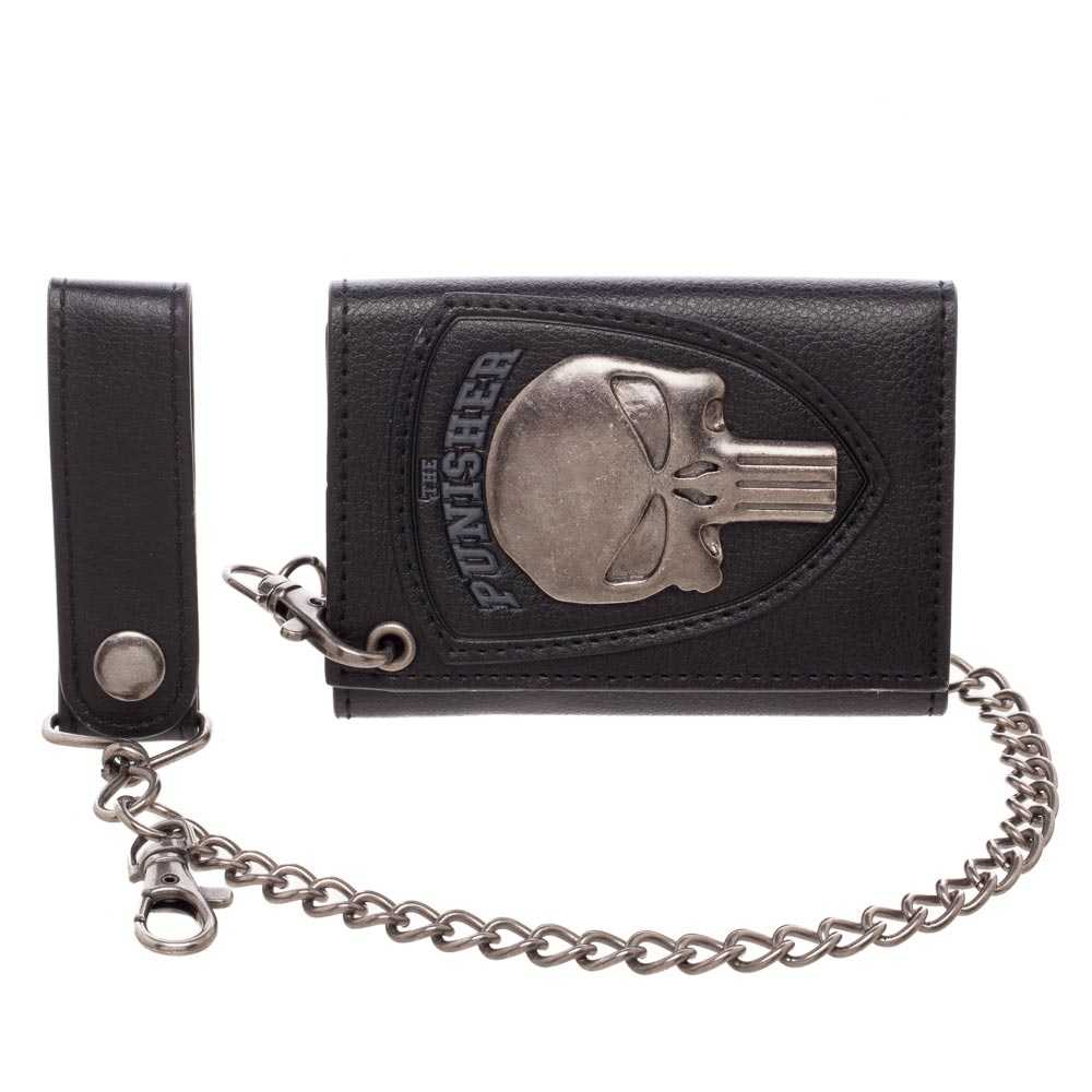 Marvel The Punisher Skull Logo Wallet With Chain