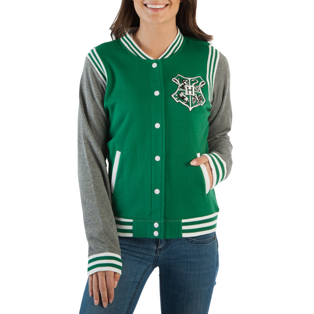 Harry Potter Slytherin Quidditch 07 Varsity Womens Jacket