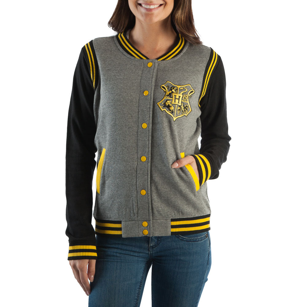 Harry Potter Hufflepuff Quidditch 07 Varsity Womens Jacket