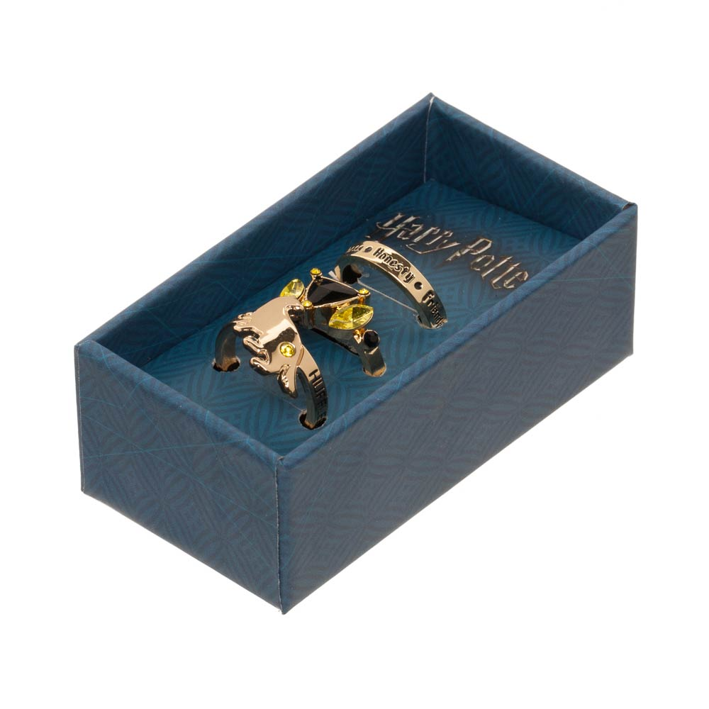 Harry Potter Hufflepuff 3 Pk Ring Set in Gift Box