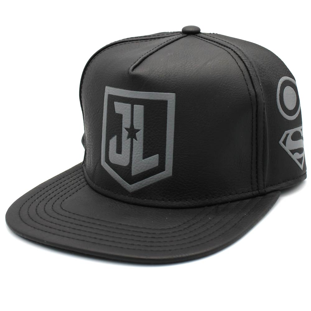 Justice League Logos PU Leather Snapback Cap