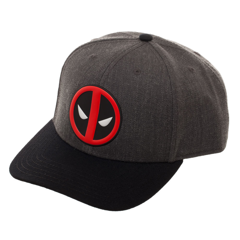 Deadpool Logo Curved Snapback Cap