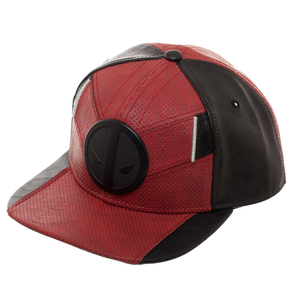 Deadpool Suit Up Ballistic Faux Leather Snapback Cap