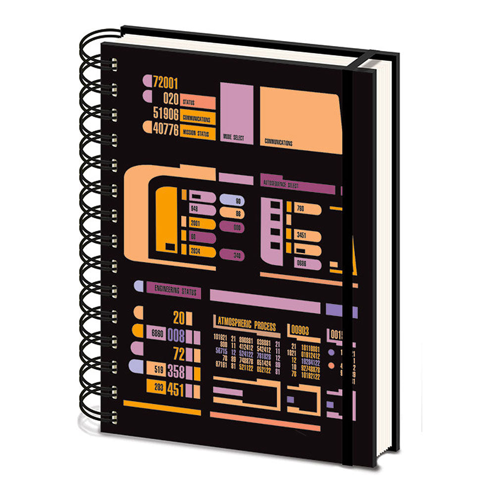 Star Trek TNG Control Panel A5 Wiro Notebook