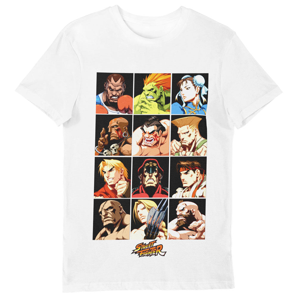 Street Fighter Character Grid T-Shirt White