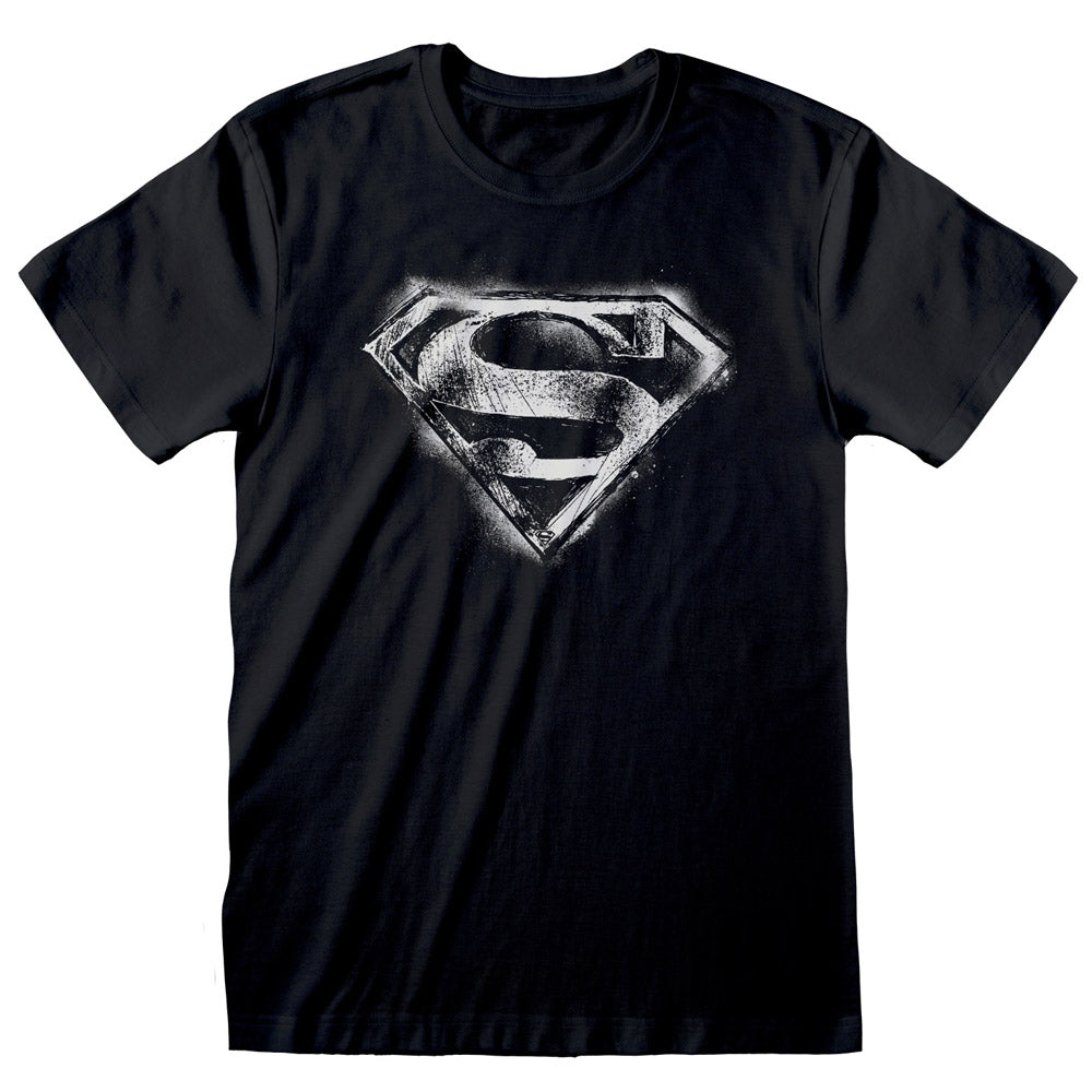 Superman Distressed Logo T-Shirt Black