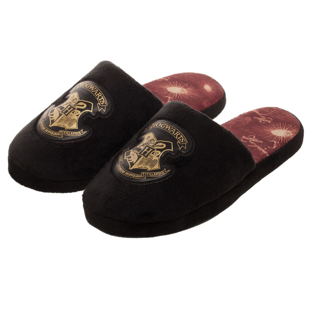 Harry Potter Plush Slippers Hogwarts Crest Slippers