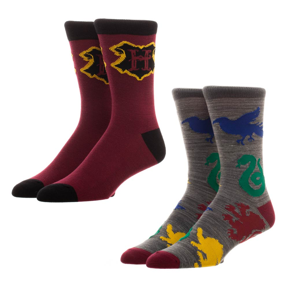 Harry Potter Hogwarts Houses Crew Socks 2 Pk