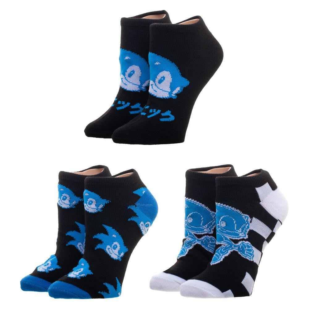 Sega Sonic The Hedgehog Ankle Sock 3 Pack