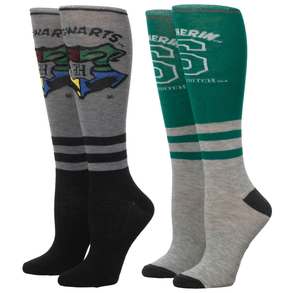 Harry Potter Slytherin Knee High Socks 2 Pair Pack