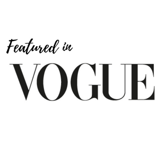 Featured in Vogue products recommended  by british Vogue