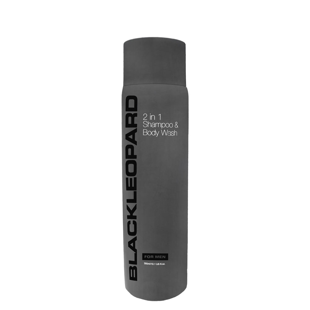 Black Leopard 2-1 Body Wash and Shampoo 300ml