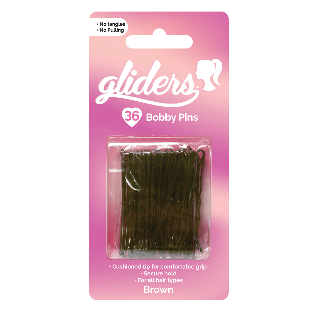 Gliders Booby Pins brown