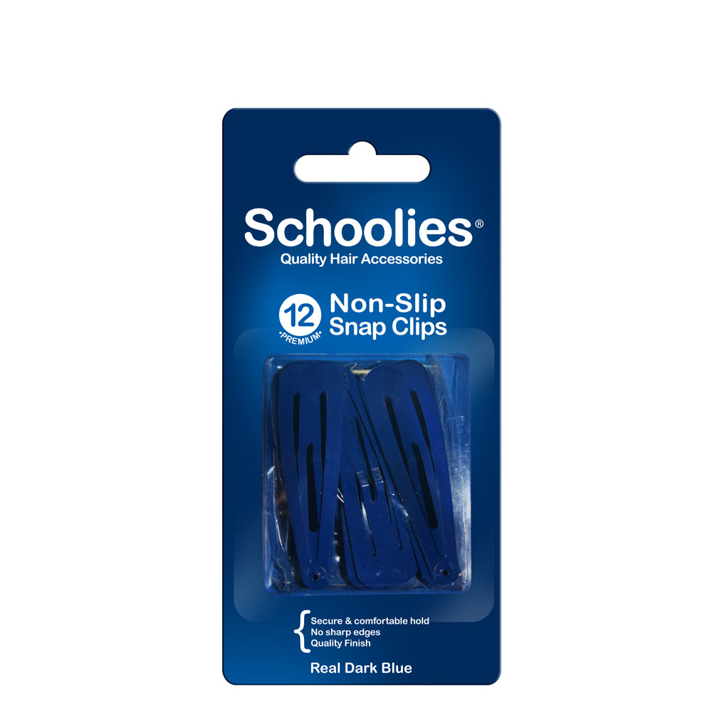 Schoolies Snap Clips 12pc - Real Dark Blue