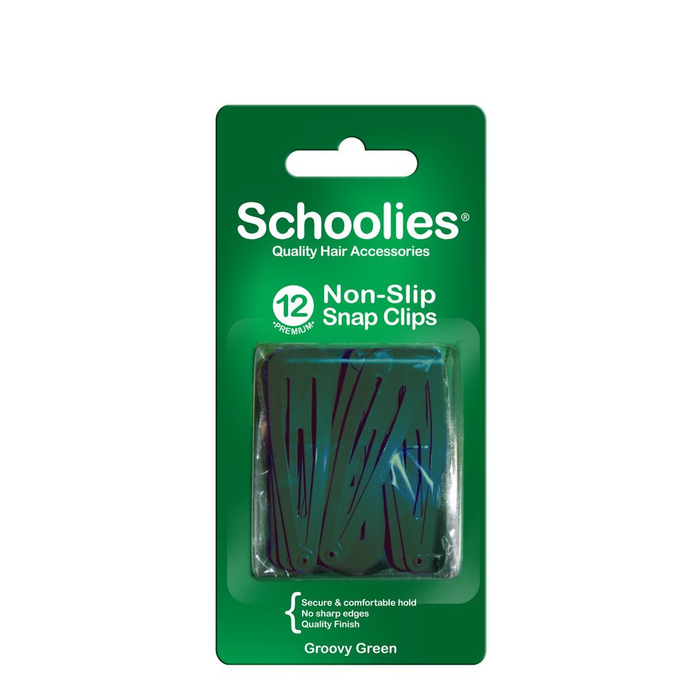 Schoolies Snap Clips 12pc - Groovy Green