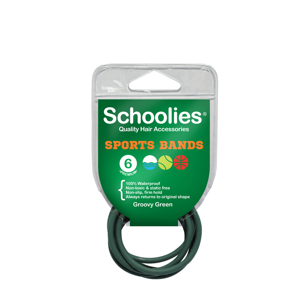 Schoolies Sports Bands 6pc - Groovy Green
