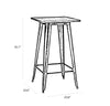 Dreux Dark Gunmetal Steel Bar Table 42