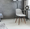 Grazia Platinum Side Chair Walnut Base Original Design (Set of 4)