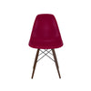 Trige Claret Side Chair with Walnut Wood Base (Set of 2)