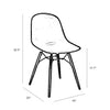 Grazia White Side Chair Walnut Base Original Design (Set of 4)