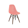 Trige Peach Side Chair with Walnut Wood Base (Set of 5)