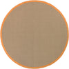 "BAY Hand Woven BAY-Orange Round 7'9"" Round Rug WL-0366-CR"