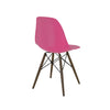 Trige Lipstick Pink Side Chair with Walnut Wood Base (Set of 2)