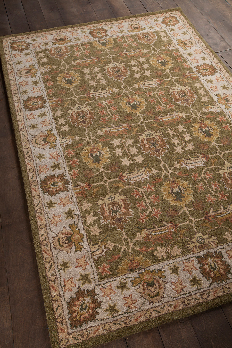 "ADONIA Hand Tufted ADO-902 Rectangular 5' x 7'6"" Area Rug WL-0023-CR"
