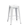 Dreux Glossy White Steel Stackable Counter Stool (Set of 4)