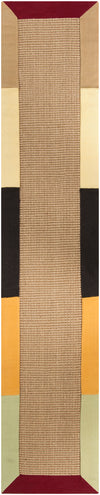"BAY Hand Woven BAY-Yellow Runner 2'6"" x 8' Runner Rug WL-0378-CR"