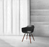 Grazia Black Arm Chair Walnut Base Original Design (Set of 4)