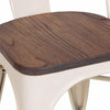 Dreux Glossy Cream Elm Wood Side Chair (Set of 4)