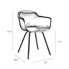 Grazia Slate Arm Chair White Base Original Design (Set of 4)