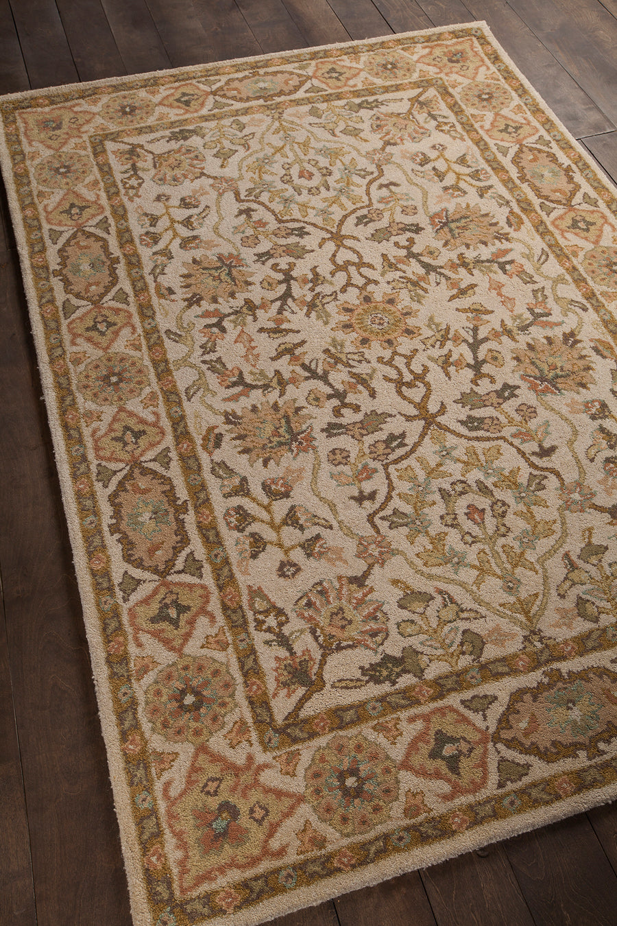 "ADONIA Hand Tufted ADO-906 Rectangular 5' x 7'6"" Area Rug WL-0029-CR"