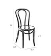 Belmont Black Retro Bentwood Steel Side Chair (Set of 2)