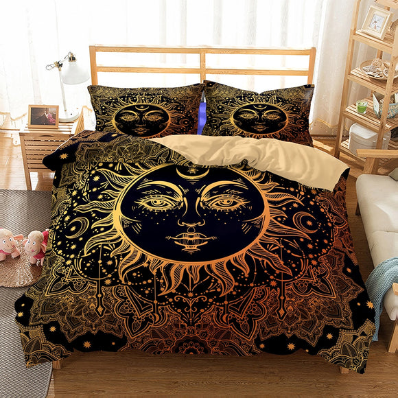 *Sun Goddess Moon- Star 3 Piece Bedding Cover