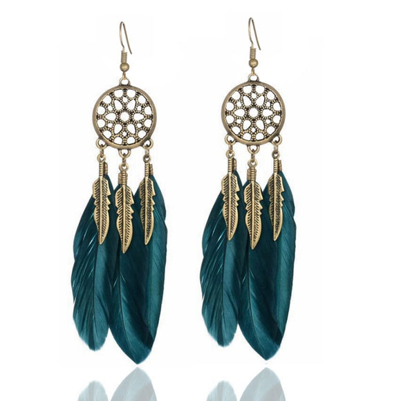 *Feathered Dreamcatcher Earings
