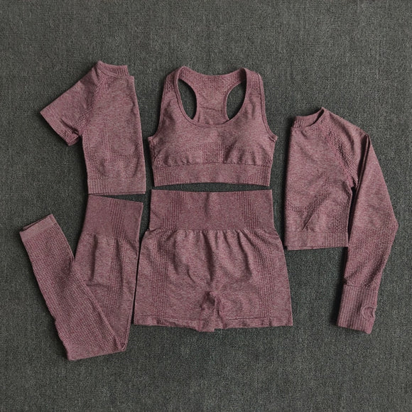 *Dazzling 2/3/5 PCS Women Workout Outfit - 6 Colors To Choose From