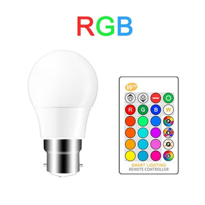 *16 Colors Smart LED Light Bulb that works with Alexa-Google & Siri-Dimmable W/Remote