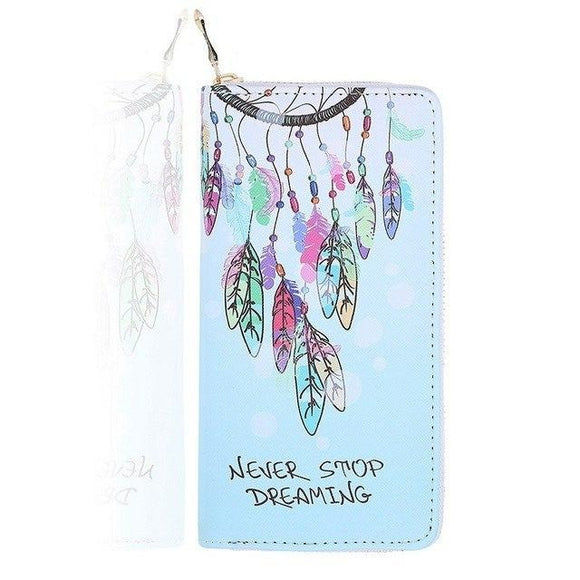 *Dreamcatcher Zipper Wallet With Cell Phone Pocket-3 designs