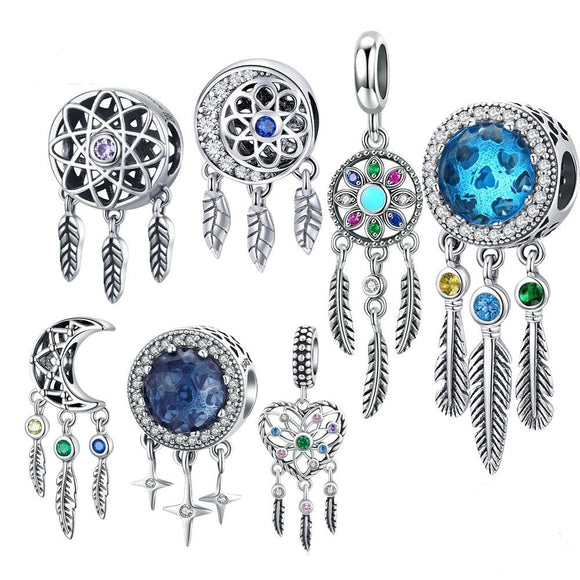 *Sterling Silver Dreamcatcher Charms