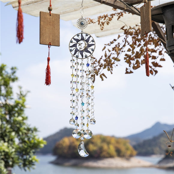 *Moon- Sun- Star Suncatcher Rainbow Maker Crystal Wind Chime