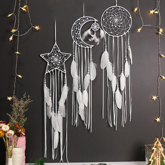 *3 Piece Dream Catcher- Moon, Sun, Star , Wall Hangings