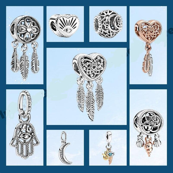 *Sterling Silver Dreamcatcher Charm  and Pendent-Large Variety to Choose From