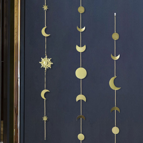 *Wall Hanging  Metal- Moon- Sun- Star