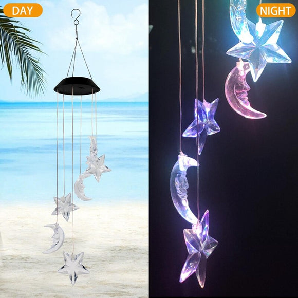 *Sun- Star- Moon LED Wind Chime