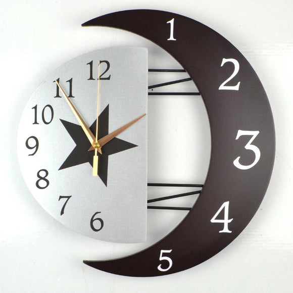 *Wall Clock- Sun- Moon- Star